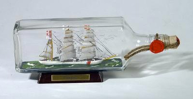 Ship in a Bottle Kit For Sale - Flaschenschiff